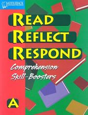 Cover of: Read Reflect Respond a (Read Reflect Respond)