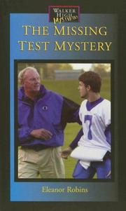 Cover of: The Missing Test Mystery (Walker High Mysteries) | Eleanor Robins