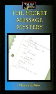 Cover of: The Secret Message (Walker High Mysteries) | Eleanor Robins
