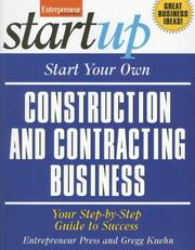 Cover of: Start Your Own Construction and Contracting Business (Startup Series) | Entrepreneur Press
