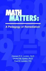 Cover of: Math Matters | Ed.D; Chuka P.B. Ej Clement B.G. London
