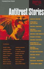 Cover of: Antitrust Stories (Law Stories) |