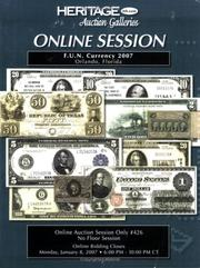 Cover of: Heritage F.U.N. Online Session Currency Auction #426