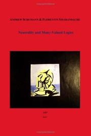 Cover of: Neutrality and Multi-Valued Logics
