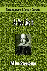Cover of: As You Like It by William Shakespeare