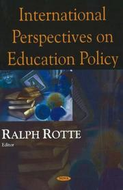 Cover of: International Perspectives on Education Policy