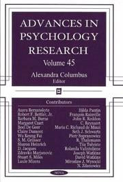 Advances in Psychology Research Vol. 45