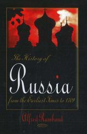 Cover of: History of Russia