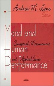 Cover of: Mood And Human Performance | Andrew M. Lane