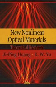 Cover of: New Nonlinear Optical Materials | Ji-ping Huang
