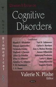 Cover of: Research Focus on Cognitive Disorders | Valerie N. Plishe