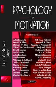 Cover of: Psychology of Motivation | Lois V. Brown