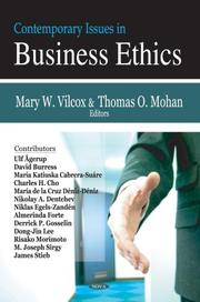 Cover of: Contemporary Issues in Business Ethics | Mary W. Vilcox