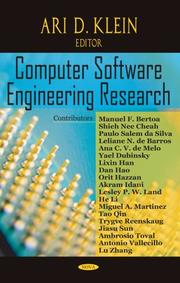 Cover of: Computer Software Engineering Research | Ari D. Klein