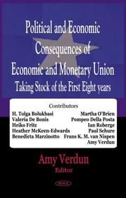 Cover of: Political and Economic Consequences of Economic and Monetary Union