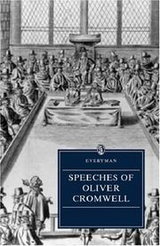 Cover of: Speeches of Oliver Cromwell | Oliver Cromwell