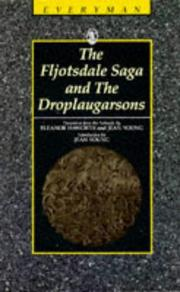 Cover of: The Fljotsdale Saga and the Droplaugarsons | Jean Young
