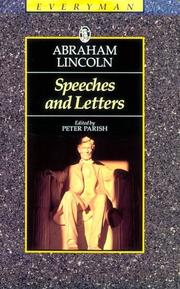Cover of: Speeches and Letters