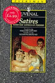 Cover of: Satires by Juvenal., John Warrington, Richard Stoneman