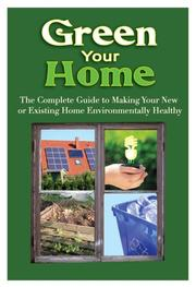 Cover of: Green Your Home | Jeanne A. Roberts