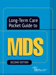 Cover of: Long-Term Care Pocket Guide to MDS, Second Edition (Long-Term Care Pocket Guides) | Inc. HCPro