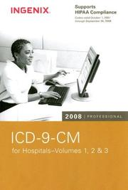 Cover of: ICD-9-CM 2008 Professional for Hospitals, Volumes 1, 2 & 3 (ICD-9-CM Professional for Hospitals (Compact)) |