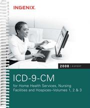 Cover of: ICD-9-CM 2008 Expert for Home Health, Nursing Facilities, & Hospices Volumes 1, 2 & 3 |