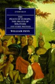 Cover of: The Peace of Europe, the Fruits of Solitude