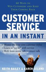 Cover of: Customer service in an instant | Keith Bailey