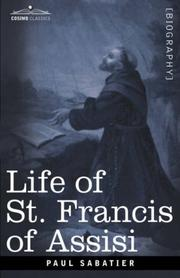 Cover of: Life of St. Francis of Assisi
