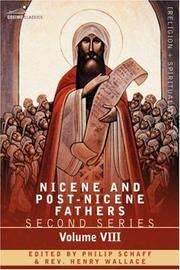 Cover of: NICENE AND POST-NICENE FATHERS: Second Series, Volume VIII Basil: Letters and Select Works