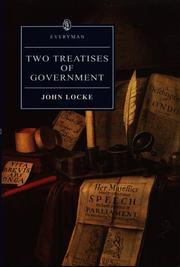 Cover of: Two Treatises of Government | John Locke