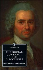 Cover of: The Social Contract and Discourses by Jean-Jacques Rousseau