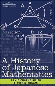 Cover of: History of Japanese Mathematics
