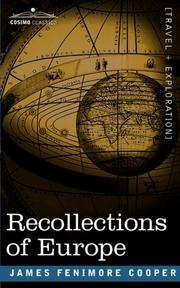 Cover of: Recollections of Europe | James Fenimore Cooper