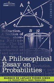 Cover of: A Philosophical Essay on Probabilities