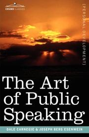 Cover of: The Art of Public Speaking