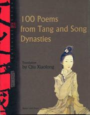 Cover of: 100 Poems from Tang and Song Dynasties | Qiu Xiaolong