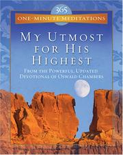 Cover of: 365 One-Minute Meditations (Utmost)