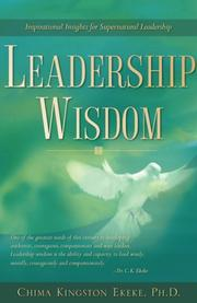 Cover of: Leadership Wisdom | Chima, Kingston Ekeke