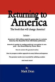 Cover of: Returning to America | Mark Dean