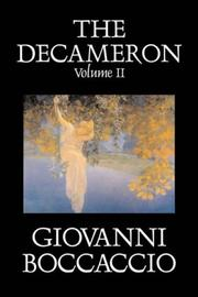 Cover of: The Decameron, Volume II