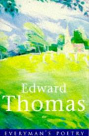 Cover of: Edward Thomas (Everyman Paperback Classics) | Edward Thomas