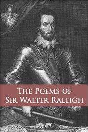 Cover of: The Poems of Sir Walter Raleigh