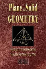 Cover of: Plane And Solid Geometry