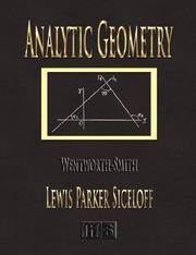 Cover of: Analytic Geometry