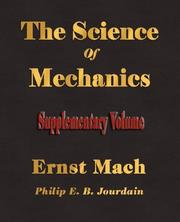 Cover of: The Science Of Mechanics - Supplementary Volume