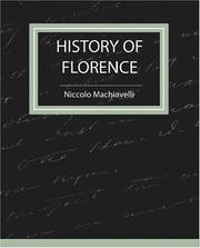 Cover of: History of Florence - Machiavelli