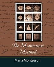 Cover of: Montessori Method - Maria Montessori