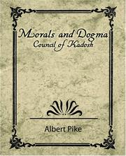 Cover of: Morals and Dogma - Council of Kadosh